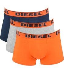 diesel boxershorts shawn 3-pak oranje-blauw-grijs