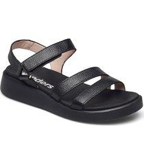c-6504 willer shoes summer shoes flat sandals svart wonders