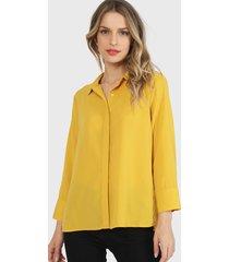 blusa wados camisera  dorado - calce regular