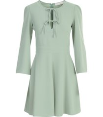 see by chloé round neck l/s mini dress