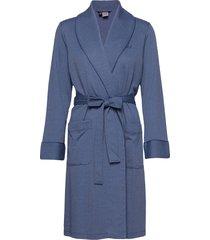 lrl short shawl collar robe morgonrock blå lauren ralph lauren homewear
