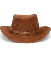 chapéu fourcountry australiano marrom furado