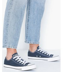converse all star canvas ox low top navy