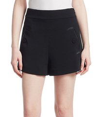 high waist crepe shorts