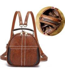 borse da donna in ecopelle vintage zaino multifunzione borse a tracolla a doppio strato