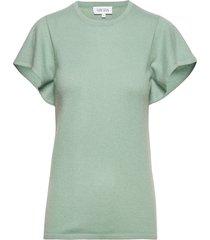 t-shirt flounce t-shirts & tops short-sleeved groen davida cashmere