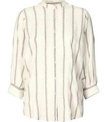 katoenen blouse met lurex ralf  naturel