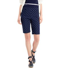 charter club petite lucile printed shorts, created for macy's