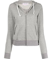 comme des garçons girl cut-out heart fitted hoodie - grey