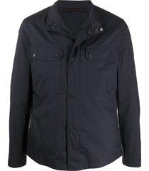 ermenegildo zegna multi-pocket funnel-neck jacket - blue