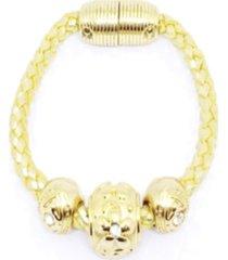 pulseira alice monteiro trançada dourada.