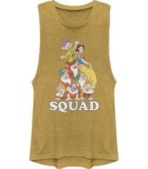 disney juniors' princesses squad dwarfs festival muscle tank top