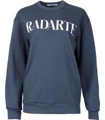 classic oversized logo sweatshirt denim blue