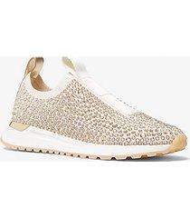 mk sneaker bodie slip-on in mesh con decori - panna (naturale) - michael kors