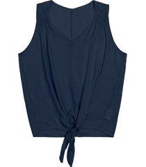 regata com nã³ frontral feminina rovitex azul - azul - feminino - dafiti