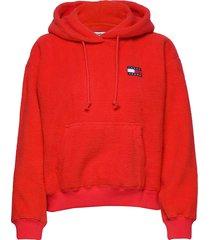 tjw tommy polar fleece hoodie hoodie trui rood tommy jeans