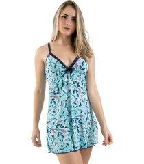 camisola de liganete linha noite azul - azul - feminino - dafiti