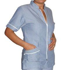 blusa medica santangel con cierre / dd200 - gris