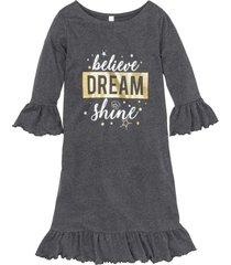 camicia da notte con stampa glitterata (grigio) - bpc selection