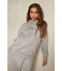 gerecyclede woman hoodie, grey marl