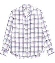 women's frank & eileen plaid linen button-up shirt
