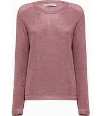 laneus maglia in lurex rosa