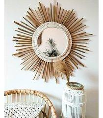 lustro bambus/ makrama 60 cm