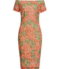 abito in pizzo a fiori con spalle scoperte (arancione) - bodyflirt boutique