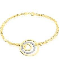 bracciale in oro bicolore per donna