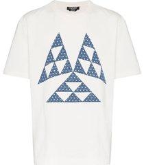 calvin klein 205w39nyc triangle print cotton t shirt - white