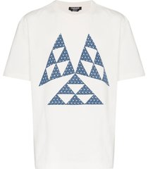 calvin klein 205w39nyc triangle print cotton t shirt - white