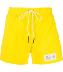 eleventy logo patch swim shorts - amarelo