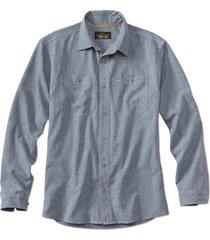 orvis men's tech chambray work shirt, xl