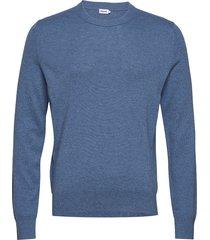 m. cotton merino basic sweater gebreide trui met ronde kraag blauw filippa k
