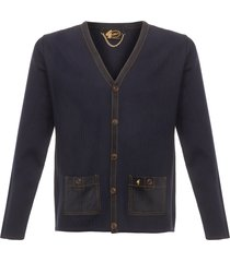 gabicci vintage 1973 navy sambura knitted cardigan v39gm25