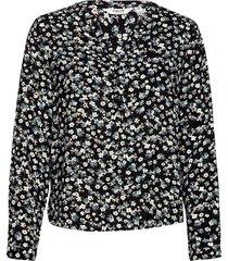 byidra v neck blouse - blus långärmad svart b.young