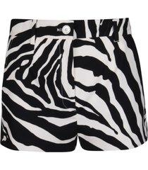 dolce & gabbana black and white cotton shorts