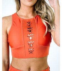 nani swimwear women's laser cut crop swim top women's swimsuit