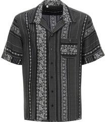 dolce & gabbana geometric print bowling shirt