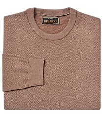 reserve collection cotton & silk crew neck men's sweater clearance