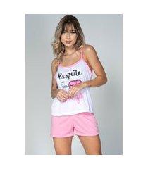 pijama bella fiore modas short doll estampado juliana rosa