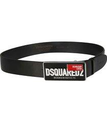 dsquared2 d & d plaque logo belt