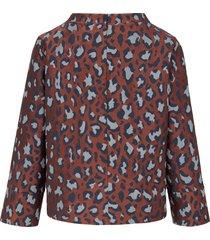 blouse met 7/8-mouwen van louis and mia multicolour