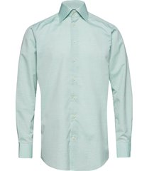 poplin-contemporary overhemd business groen eton
