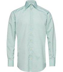 poplin-contemporary overhemd business groen eton