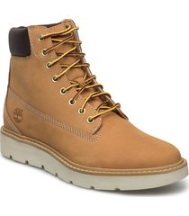 kenniston 6in lace up shoes boots ankle boots ankle boot - flat brun timberland