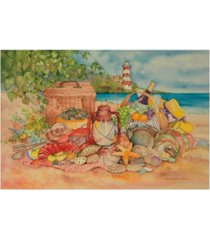 "kathleen parr mckenna bayside picnic canvas art - 37"" x 49"""