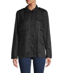 rag & bone women's m8 shirt jacket - black - size m