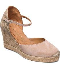 castilla_21_ks sandalette med klack espadrilles creme unisa