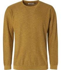 no excess pullover crewneck slub stone washed gold